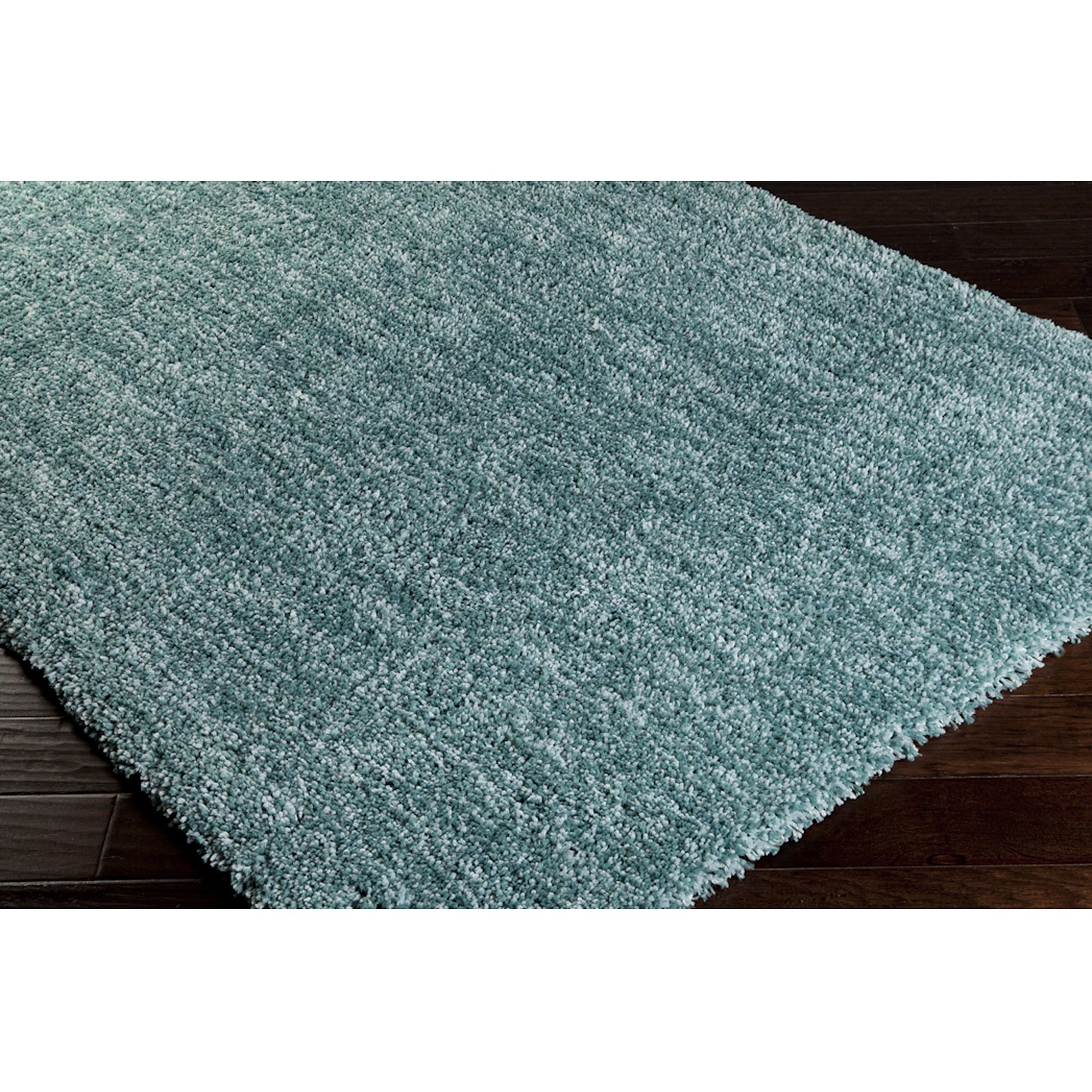 Art Of Knot Super Soft Hand Woven Shag Area Rug, Teal
