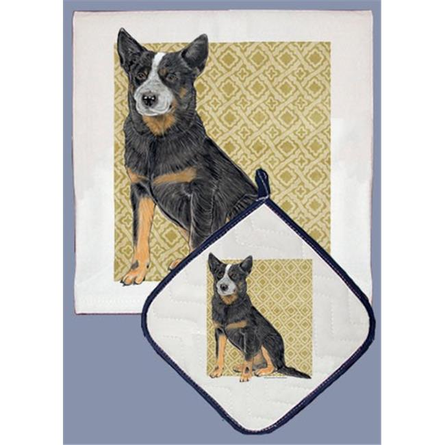 Pipsqueak Productions DP998B Australian Cattle Dog Dish Towel And Pot Holder Set