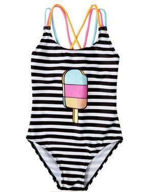 Toddler Baby Girls Swimsuit One Piece Mini Boss Print Ruffle Beachwear Backless Bikini Bathing Suits