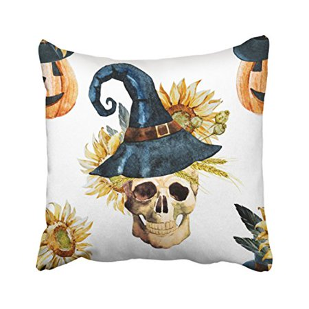 WinHome Decorative Pillowcases Halloween Throw Pillow Covers Cases Cushion Cover Case Sofa 18x18 Inches Two - Fb Cover Photos Halloween