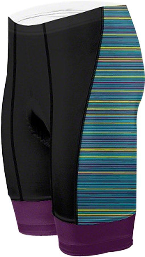 Primal Wear Kismet Women's Cycling Short: Black Purple Blue, LG by Primal Wear