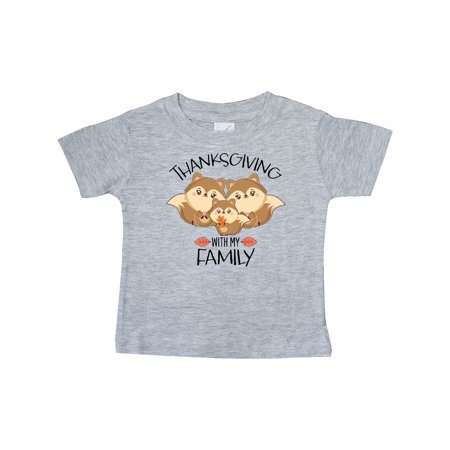 Thanksgiving with my Family Cute Squirrels Baby T-Shirt