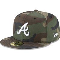 Atlanta Braves New Era Woodland Camo Basic 59FIFTY Fitted Hat - Camo