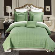 Luxury Soft Checkered Diamond Stitched 2 Piece Coverlet Set Wrinkle-Free Reversible All Season Mini Bedspread Set -Sage-Twin/Twin XL