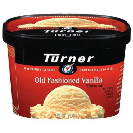 Turner Old Fashioned Vanilla Ice Cream, 1.75qt - Walmart.com