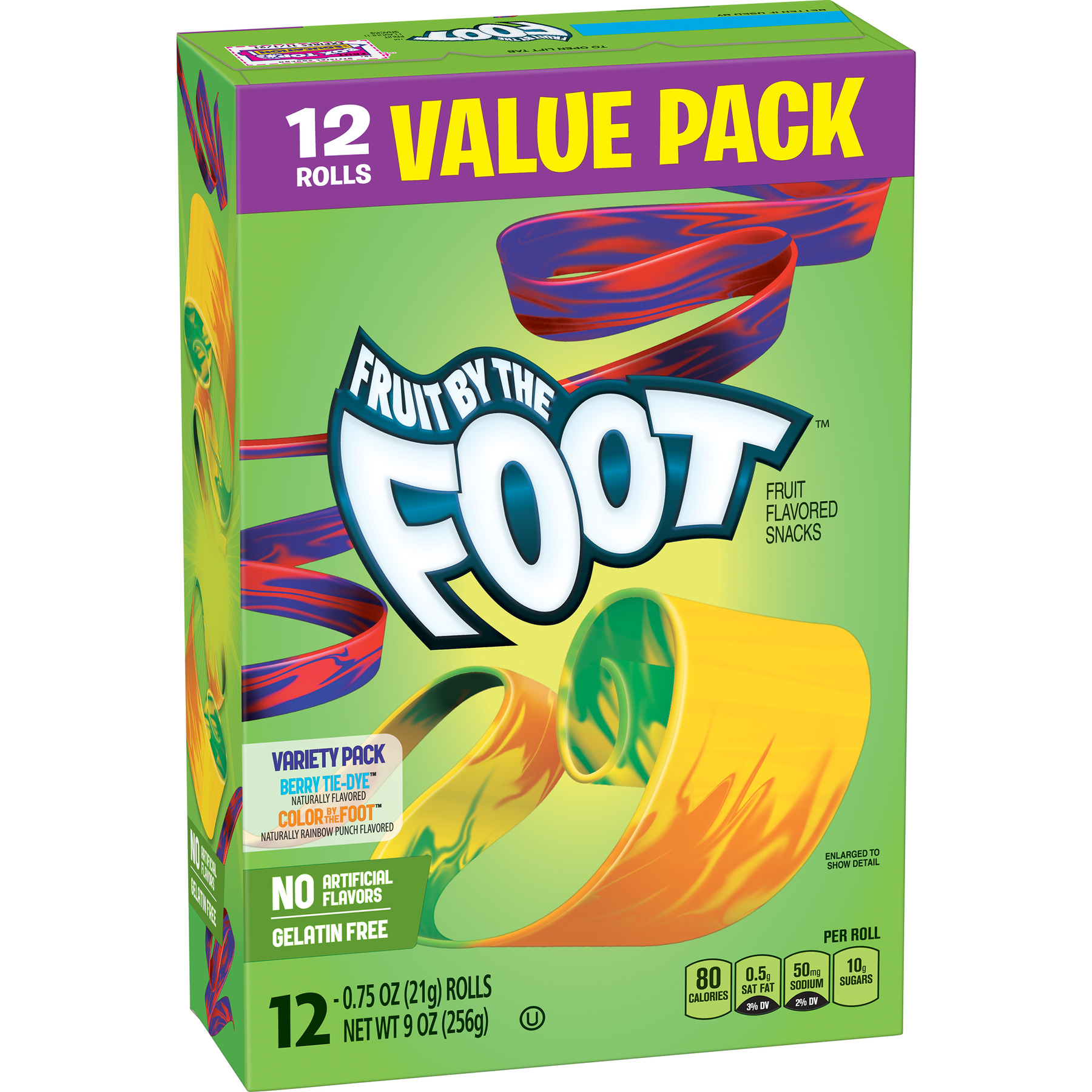 Betty Crocker Fruit Snacks, Fruit by the Foot, Variety Snack Pack, 12 Rolls, 0.75 oz Each