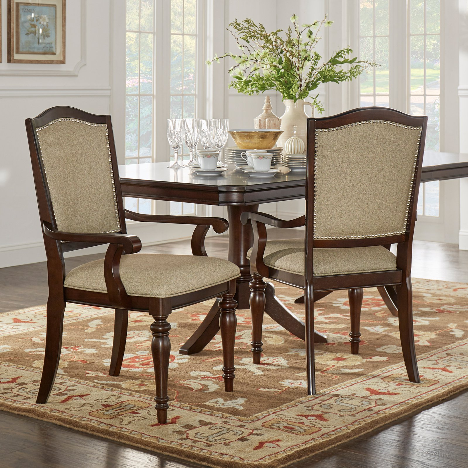 Homelegance Marston Nailhead Dining Armchair Set of 2 by Top-Line dba Homelegance