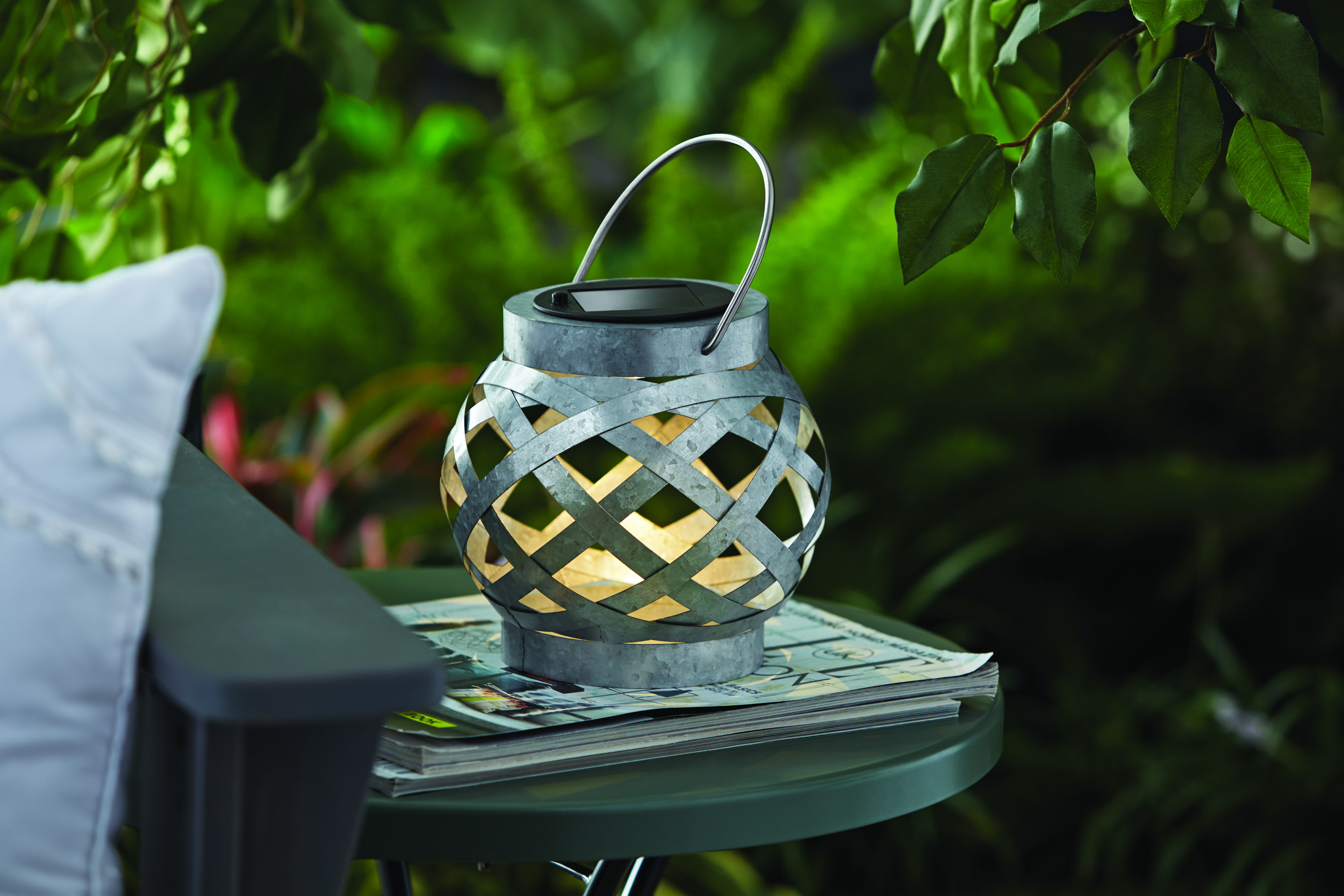 Better homes and gardens outdoor galvanized solar lantern - Better homes and gardens solar lights ...