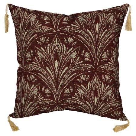 (Bombay Outdoors Royal Zanzibar Berry Toss Pillow with Tassels)