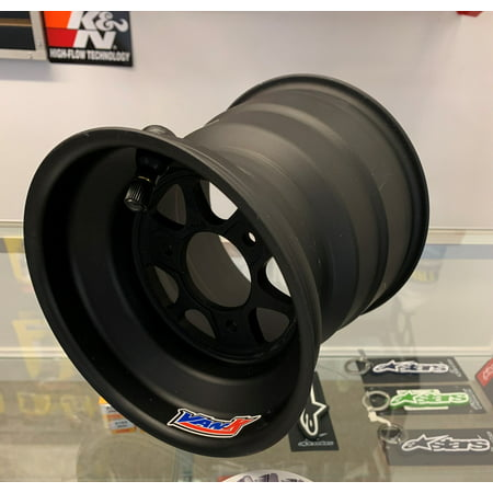 "Van K Wheels 475.6600.4.2 ~ 6"" x 6""w 4"" BELL BILLET Quarter Midget Black Anodized Kart Wheel VanK"