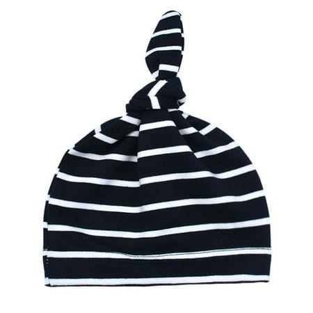 Three Stripe Cap - Newborn Baby Knot Striped Cotton Hat Soft Beanie Cute Cap