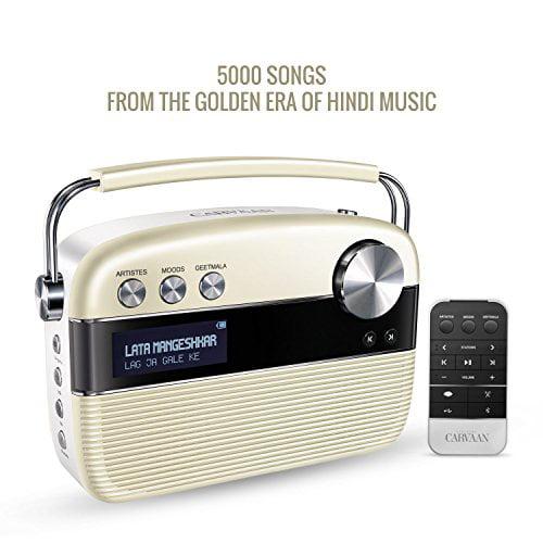 SAREGAMA Carvaan Hindi SC01 Portable Digital Music Player (Porcelain White)