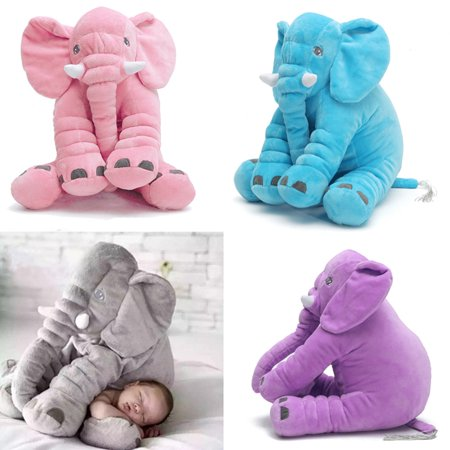 Elephant Sleeping Pillow Soft Stuffed Plush Doll Elephant Plush Cute Toys For Baby Kids Children Birthday Christmas Gifts