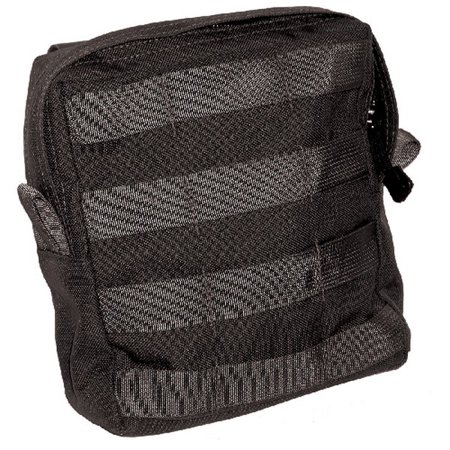 Image of BlackHawk 37CL60BK Black Large Utility Pouch w/ Zipper - MOLLE