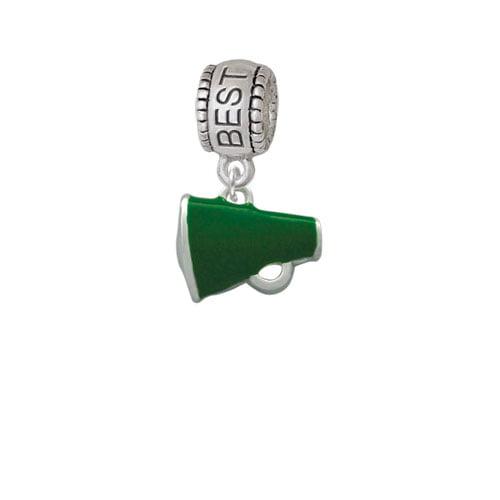 Small Green Megaphone - Best Friend Charm Bead