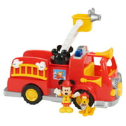 Disney's Mickey Mouse Mickey's Fire Engine, Fire Truck Toy with Lights and Sounds