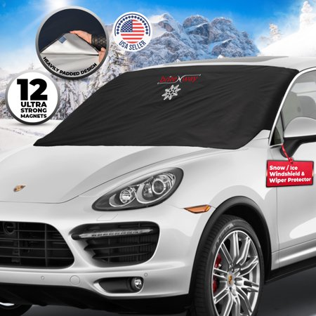 Windshield Snow Cover - Auto Ice Wiper Protector - Non Scratch Magnetic -  Sturdy - Heavy Duty Material - 50 x 62 Inches - Keep your Vehicle Exterior