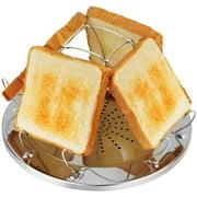 Camping Toaster mit faltbarem Ständer Poröses Tablett Brot Toaster für Familien Outdoor Gasherd Kocher Picknick Faltbares