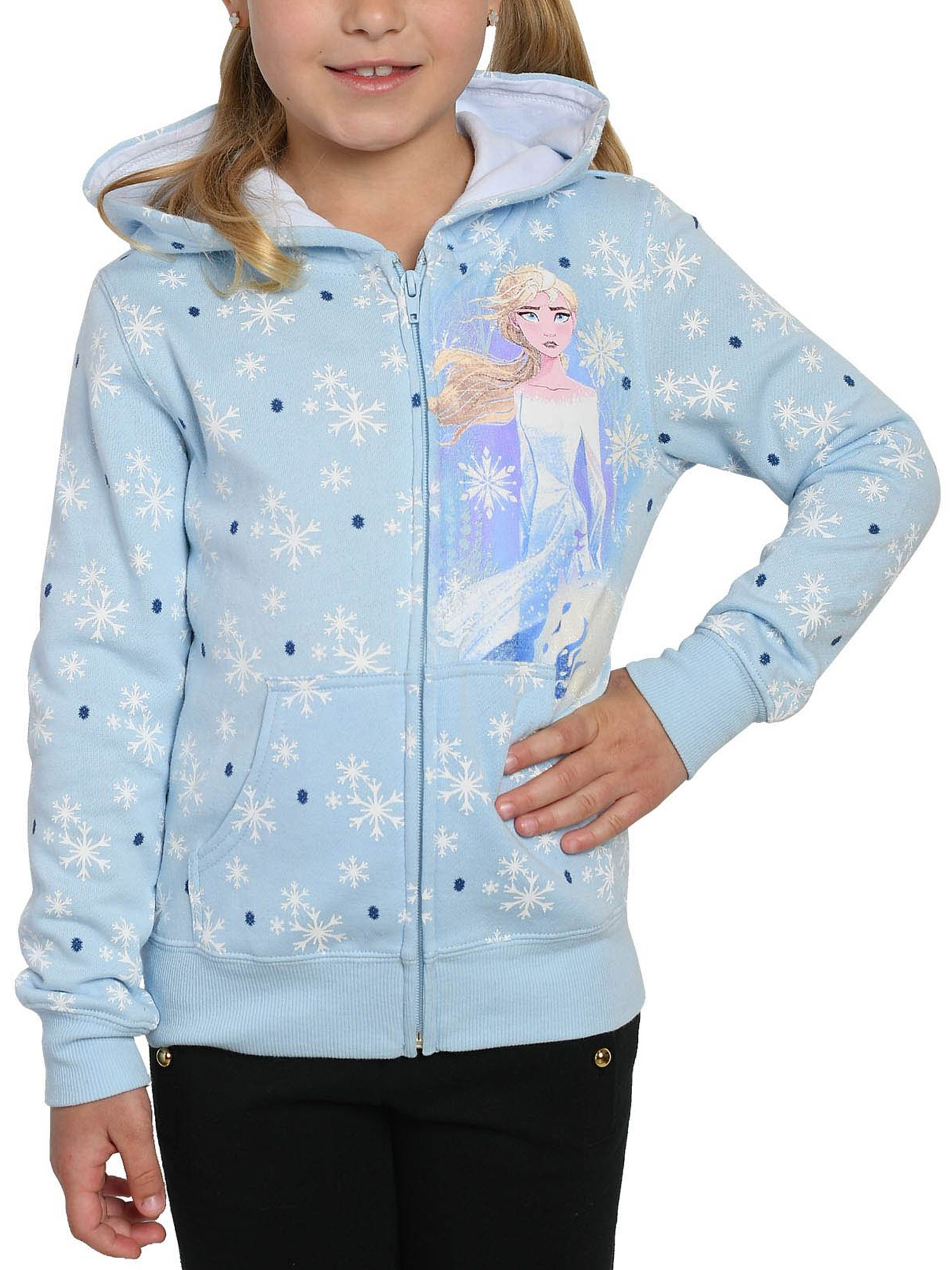 7//8-10//12 Disney Frozen Elsa Hooded No Feet Blanket Sleeper Pajamas Sz 6//6X