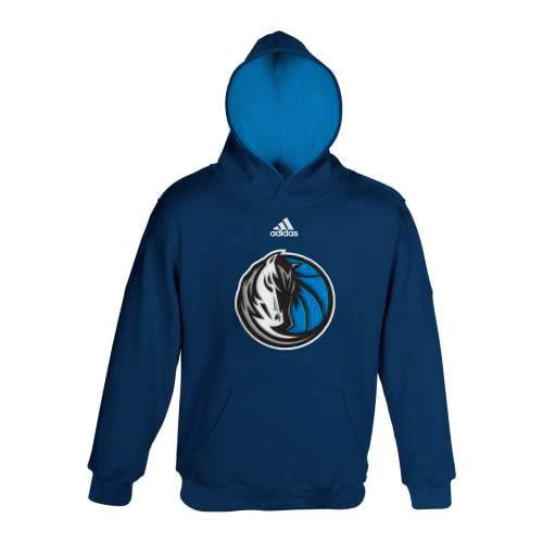 Dallas Mavericks Youth Adidas NBA 2013 Team Color Pullover Hooded Sweatshirt