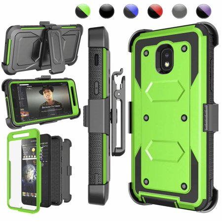 Galaxy J7 2018 Case, Njjex Samsung J7 Refine / J7 Aero / J7 Aura / J7 Crown / J7 Top / J7 Eon / J7 Star Case Holster, [Built-in Screen Protector] & Kickstand + Holster Belt Clip Carrying Armor Case (Aero Armor Nexus)