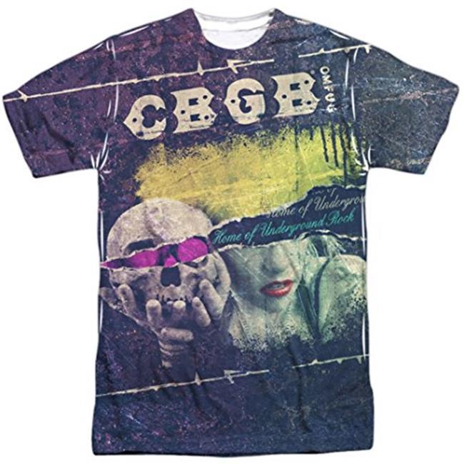 CBGB Club SKULL Guitar JUMP NYC Underground Rock Dickies Work Shirt All Sizes