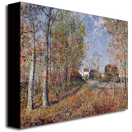 """Best Trademark Fine Art """"A Corner of the Woods at Sablons"""" Canvas Art by Alfred Sisley deal"""