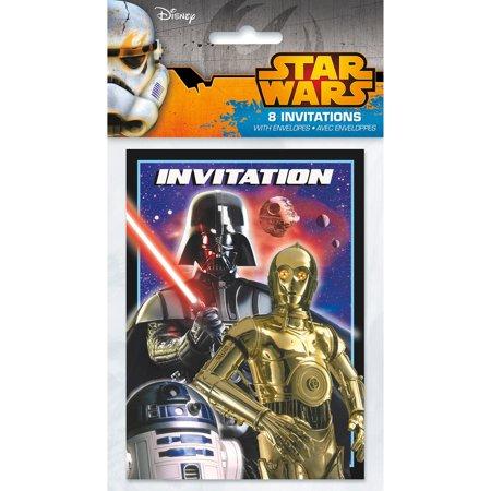 Star Wars Invitations 8 Per Pack Walmart Com