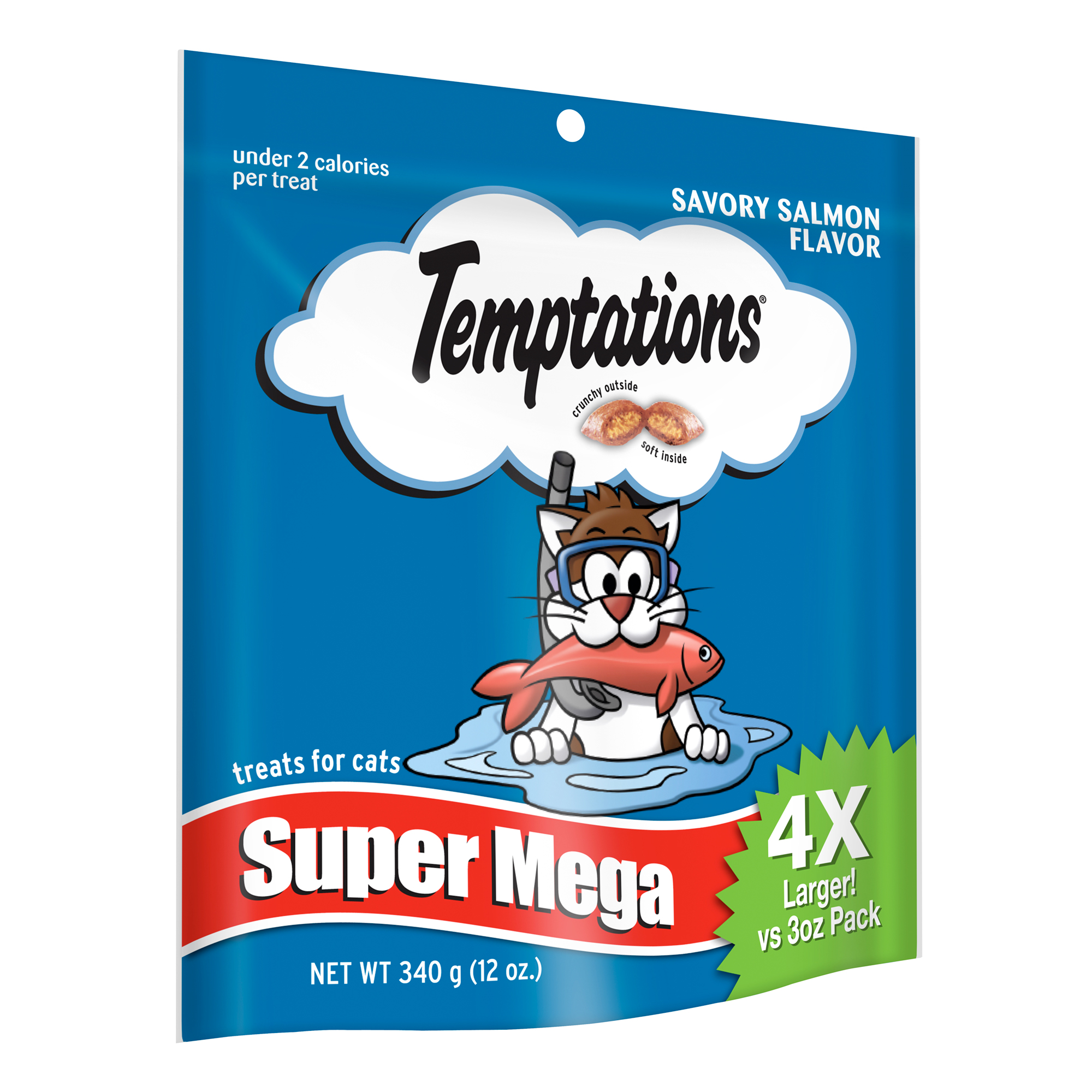 TEMPTATIONS Classic Treats for Cats Savory Salmon Flavor 12 Ounces