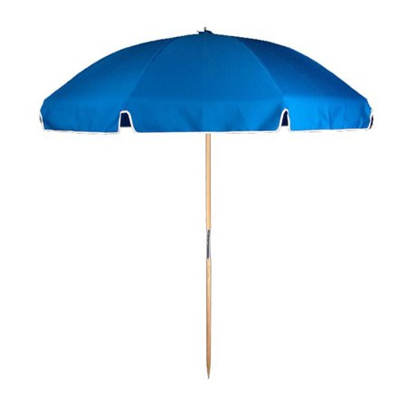 7 5 ft  Steel Commercial Grade Beach Umbrella with Ash Wood Pole