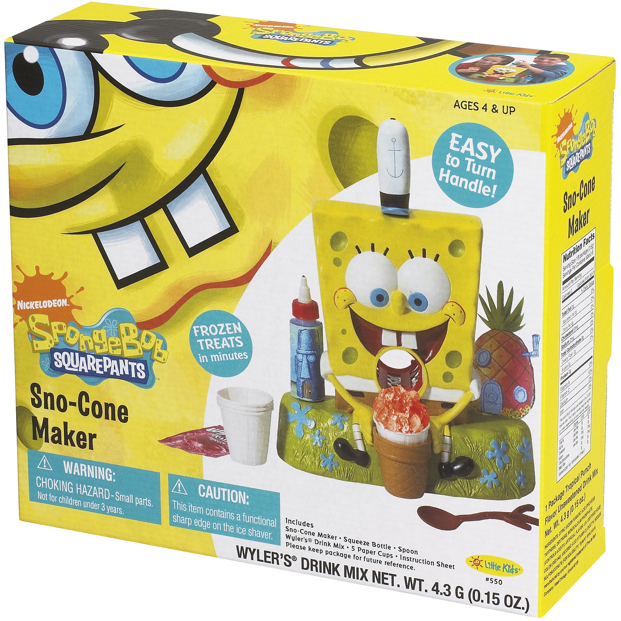 Little kids spongebob squarepants sno cone maker walmart stopboris Image collections
