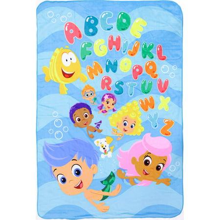 Nickelodeon Bubble Guppies Toddler Plush Blanket - Walmart.com