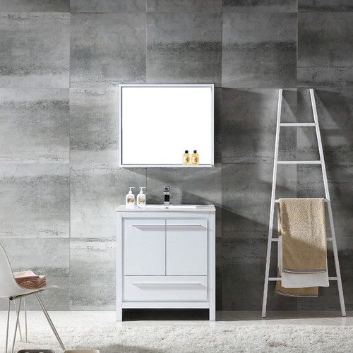 Fresca Allier 30'' Single Modern Bathroom Vanity Set with Mirror