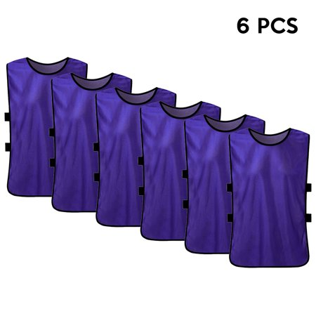 dce7a393e 6 PCS Kid s Soccer Pinnies Quick Drying Football Jerseys Youth Sports  Scrimmage Team Training Bibs Practice