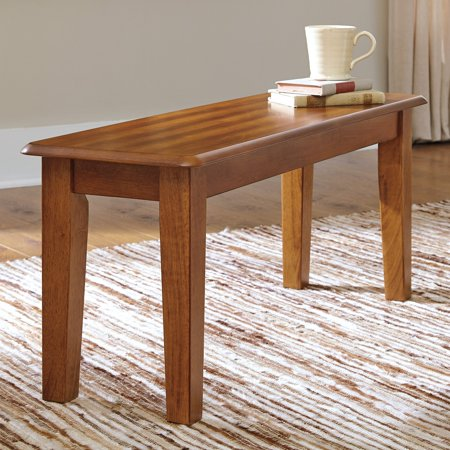 Signature Design by Ashley Berringer Large Dining Room Bench, Rustic Brown