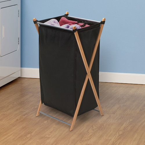 Household Essentials X-Frame Hamper, Bamboo