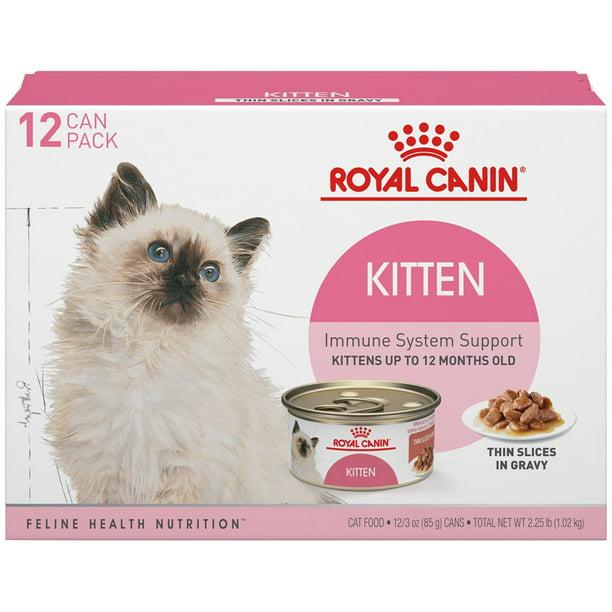 Royal Canin Feline Health Nutrition Kitten Instinctive Thin Slices In Gravy All Breeds Kitten Wet Cat Food 3 Oz Case Of 12 Walmart Com Walmart Com