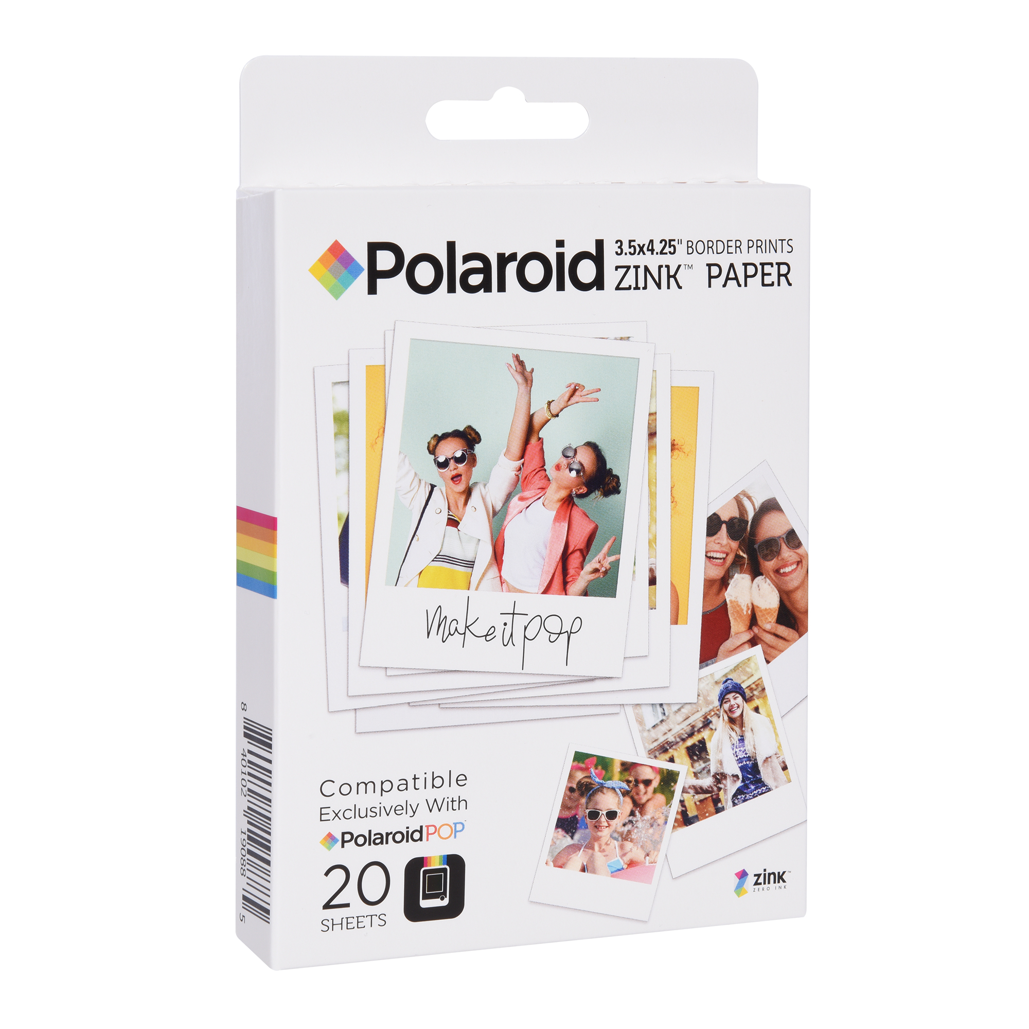 "Polaroid POP 20 pack (3.5"" x 4.25"") paper"