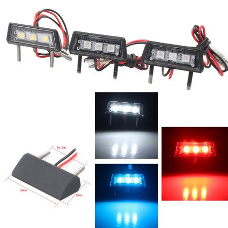 GZYF Universal LED License Plate Tag Red Light/ Interior Step Lamp For