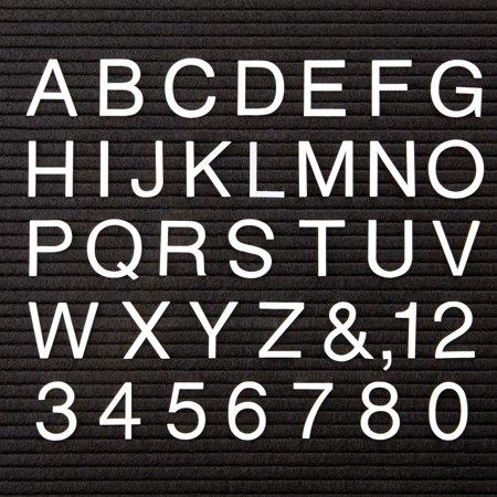 Quartet, QRT4421, White Plastic Helvetica Letter Set, 300 / Set, White