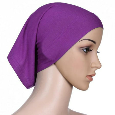 EFINNY Womens Under Scarf Hijab Hair Wrap Tube Bonnet Cap Bone Islamic Head (Long Scarf Headband)