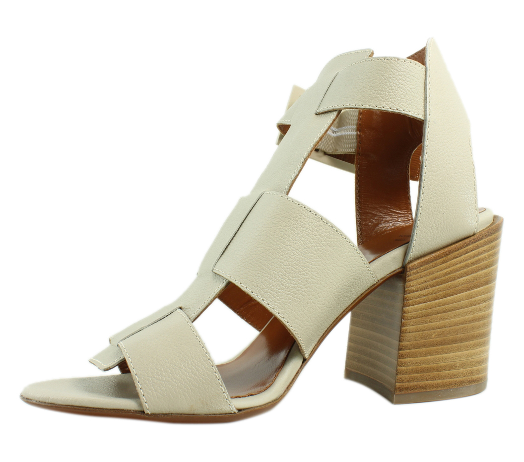 Aquatalia Womens  PearlGrey Ankle Strap Heels Size 6 New