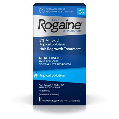 Rogaine Men S Minoxidil Extra Strength Treatment Solution  1 Month