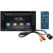 """Planet Audio P9640BRC 6.2"""" Double-DIN In-Dash Touchscreen DVD Receiver with Bluetooth and Rear Camera"""