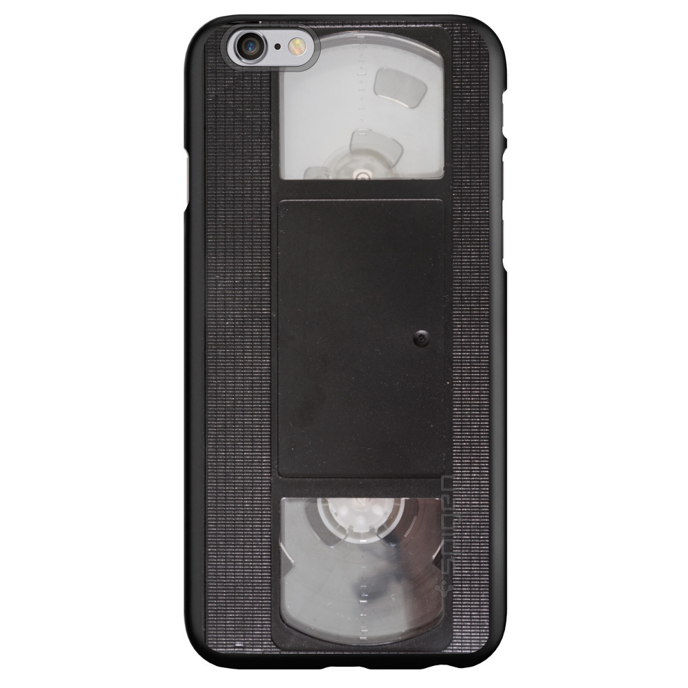 "CUSTOM Black Spigen Thin Fit Case for Apple iPhone 7 PLUS / 8 PLUS (5.5"" Screen) - VHS Video Tape"