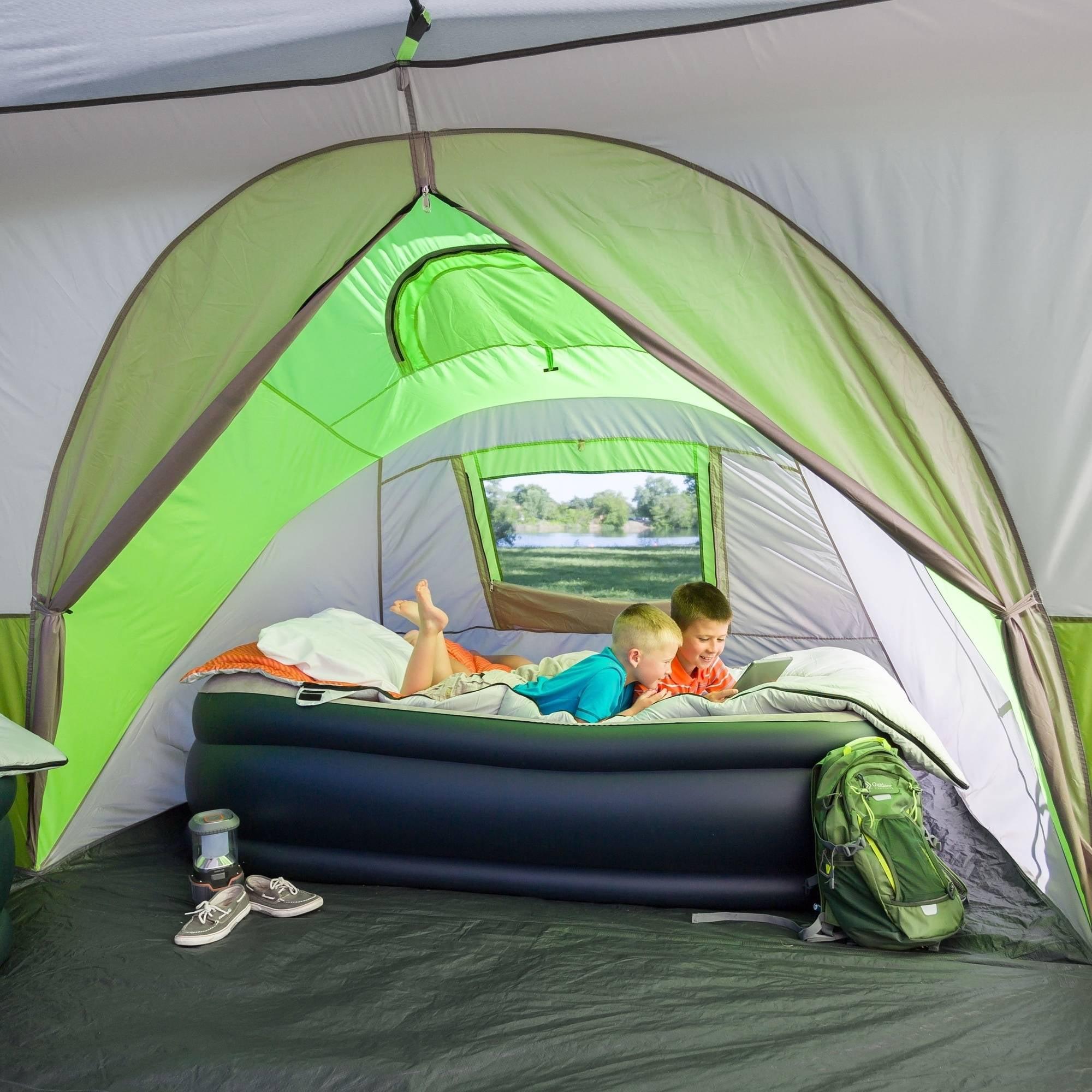 & Ozark Trail 11p Instant Cabin W/ Private Room Green - Walmart.com