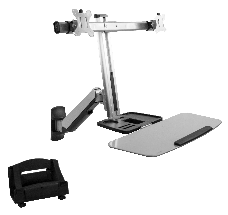 VIVO Dual Monitor & Keyboard Counterbalance Sit-Stand Wal...