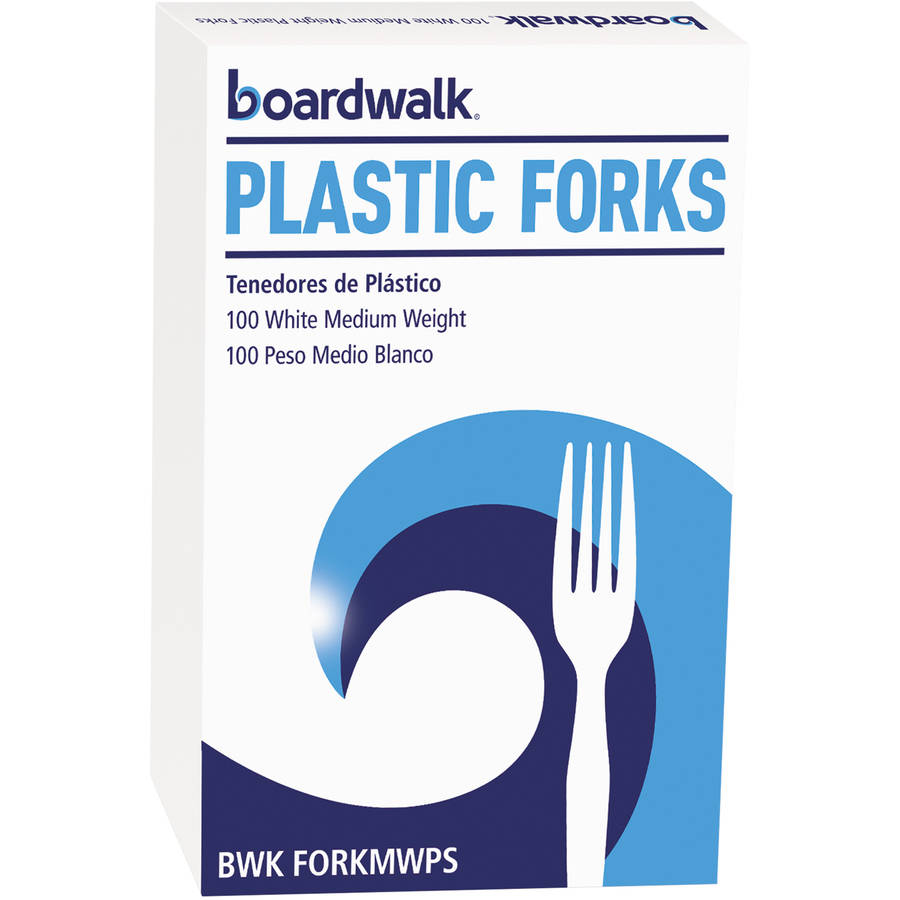 Boardwalk Medium Heavyweight White Plastic Forks, 1000 count