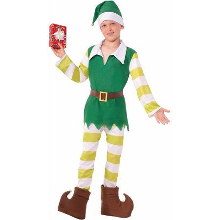 Boys Christmas Santas Helper Classic Worker Elf Costume - Toddler Elf Costume