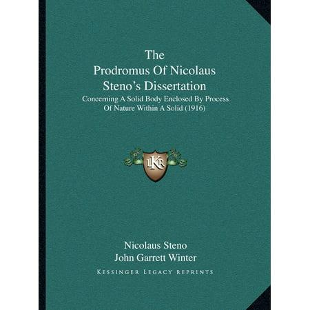 Dissertation is prodromus